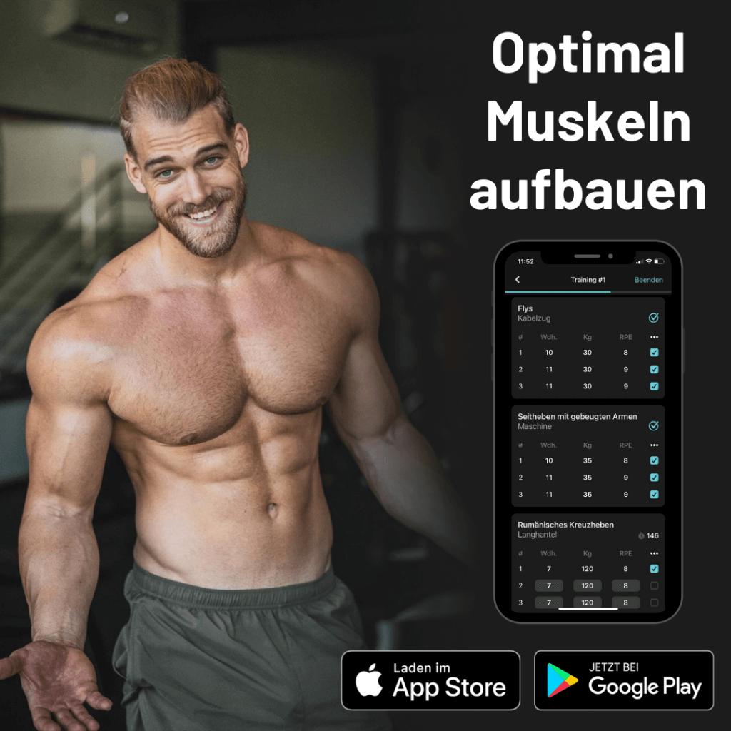 Optimal Muskeln aufbauen